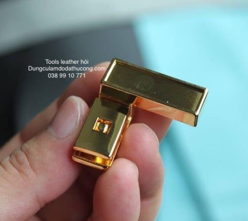 Khoá xoay mặt dán da mạ vàng 24K cao cấp