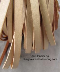 Dây da dẹt 3mm màu vàng bò (mét)