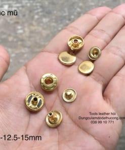 cúc mũ 655 đồng 10mm màu vàng (10 bộ)