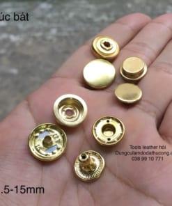 cúc bát 501 đồng 15mm màu vàng (10 bộ)