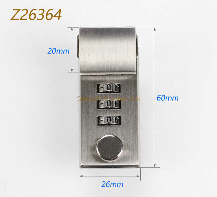 Khoá amiet 3 số dọc Z26364 bạc