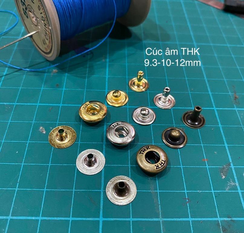 cúc THK âm 12.5mm bạc (5 bộ)